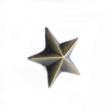 China großhandel 3D nach fünf antike messing stern <span class=keywords><strong>metall</strong></span> revers pin mit schmetterling kupplung