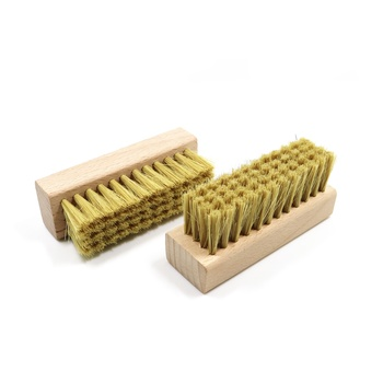 Natural beech wood 100% horse hair bristles leather shoe brush