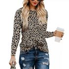 J86 top 2019 Newest Hot Women Leopard Print T Shirt Ladies Long Sleeve Casual Top Tee Women Autumn Wear Plus Size