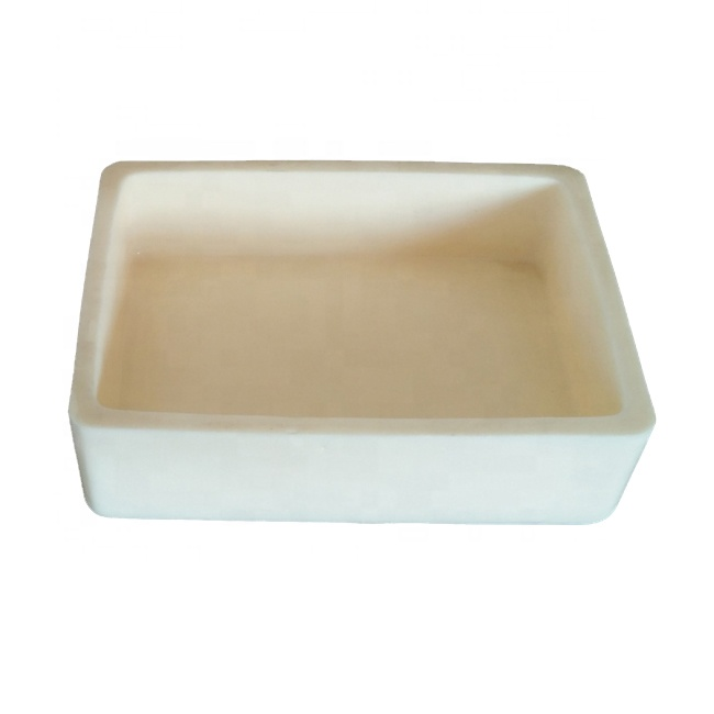 Rectangular refractory ceramic 99% alumina crucible for muffle furnace 60x30x20mm