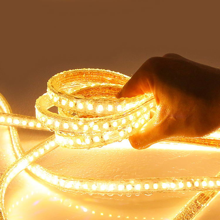 KLUMIA China Manufacturer non wire SMD 3030 96eds/m IP65 waterproof AC 220V 240V led strip lamp