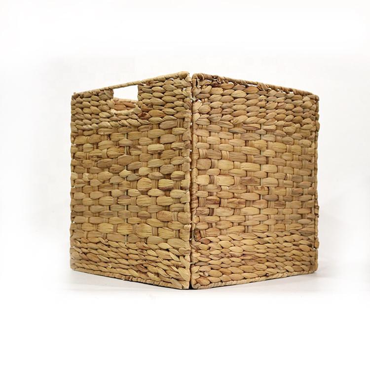 2019 hot sale eco grande amarelo palha de ferro pendurado cesta de lavanderia do hotel cesta para brinquedos