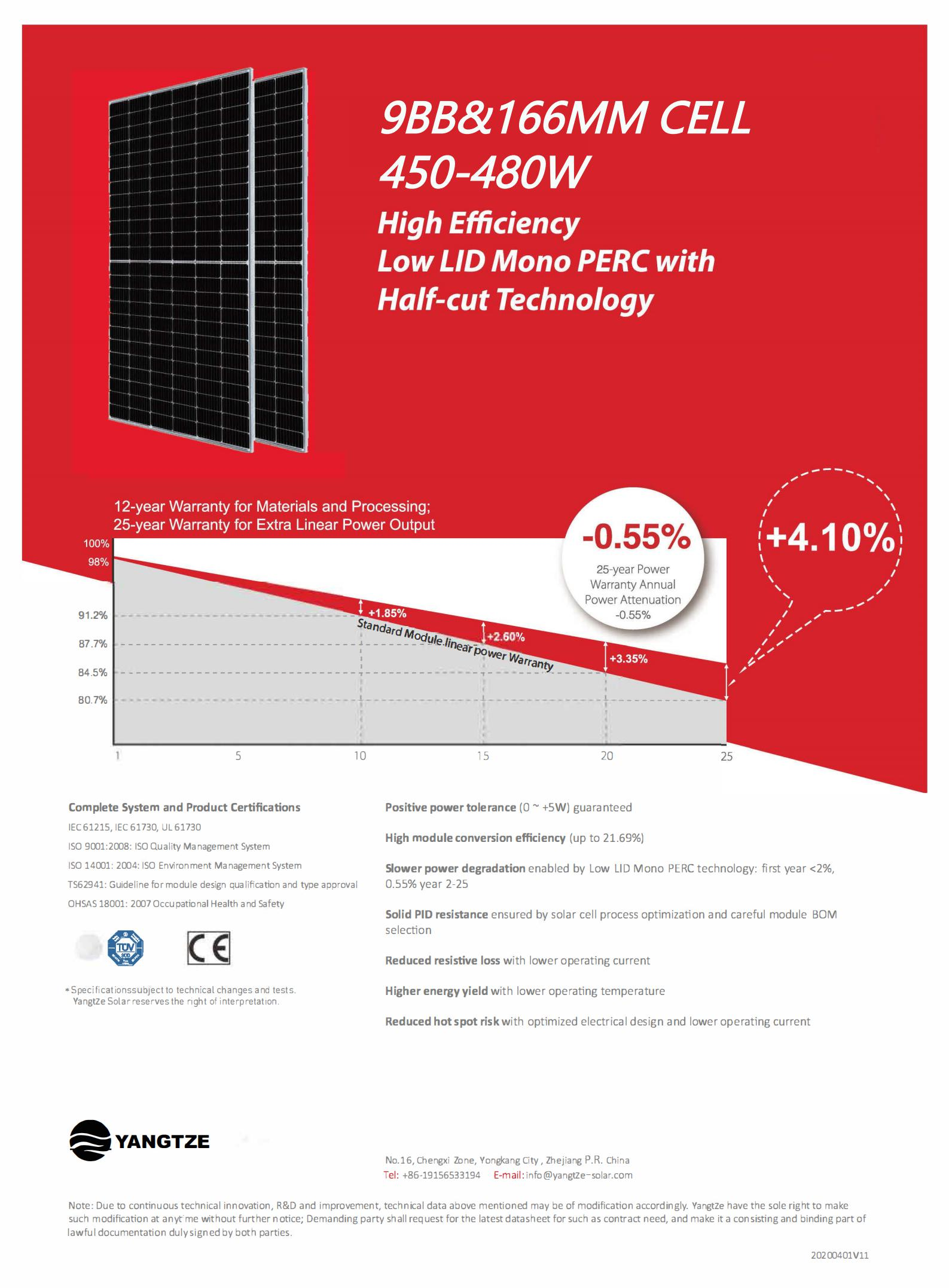 Jinko half cell high efficiency PERC solar panel 440w 450w 460w