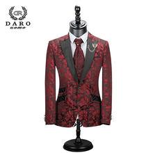 Новинка 2020, мужской костюм, 3 предмета, смокинг, приталенный, красный, кофейный, синий, для свадебного платья, костюмы, Блейзер, брюки и жилет ...(Китай)