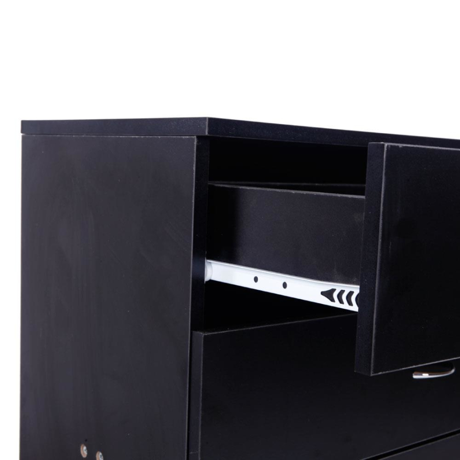 French style furniture bone inlay 4 drawers design black modern wood chest of drawers for bedroom