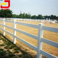 High Quality Outdoor UV Resistant Proof 3 Rail Easy Installation Horse Fence
