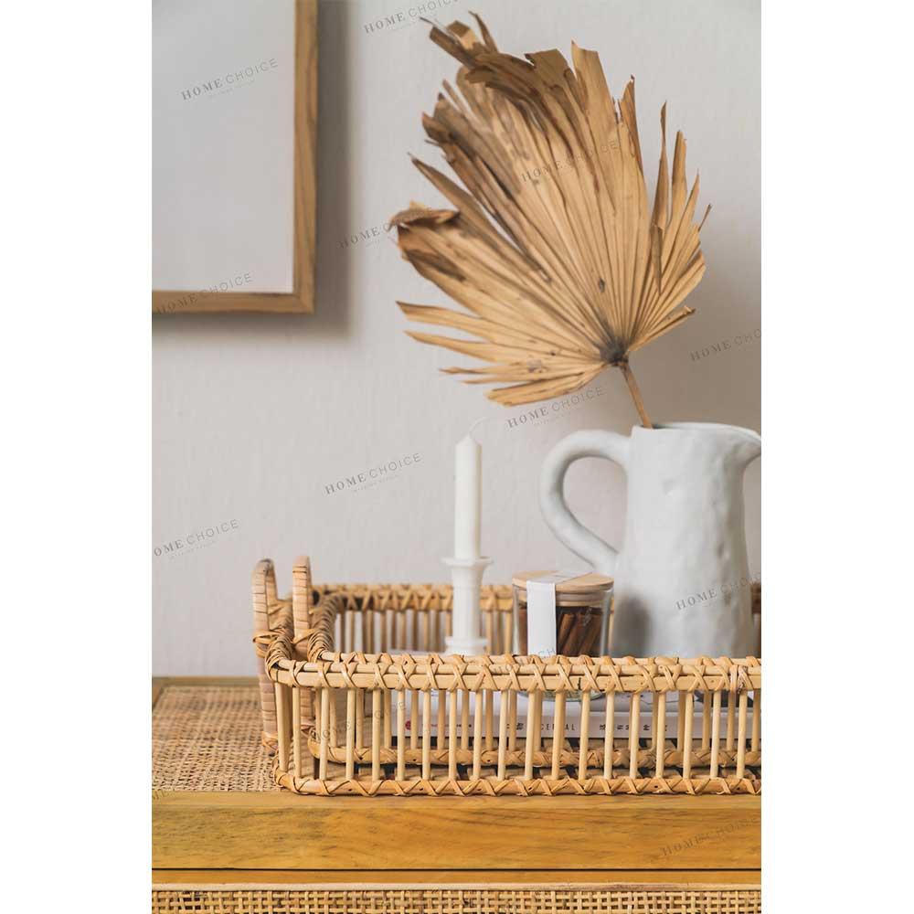 סיטונאי חדש עיצוב עגול קש צלחת שולי עץ מקל צלחות צלחות אוכל כלי אוכל סטים