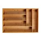 Organizers 6-Slot Bamboo Drawer Organizer,Tray for Large Drawers