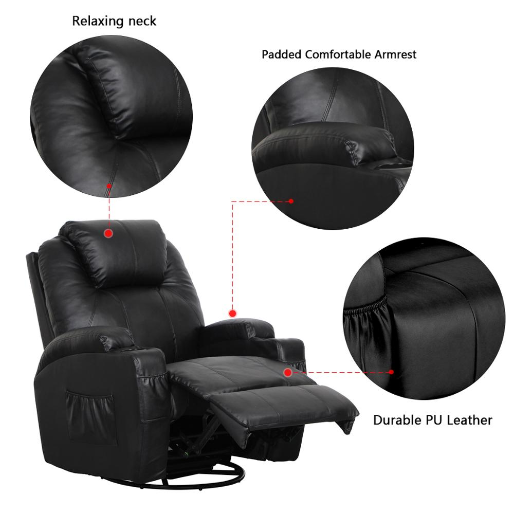 Groothandel Dropshipping PU Professionele Elektrische Seat Full Body Voet Massage Lounge 3d Zero Gravity Sofa Massage Fauteuil Stoel