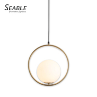 High quality home decoration retro antiqu brass led american style pendant light