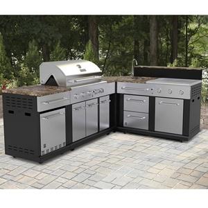 NICOCABINET High Quality Outdoor Metal Stainless Steel Kitchen Cabinets BBQ Backyard Kitchen Waterproof Kitchen Cupboard
