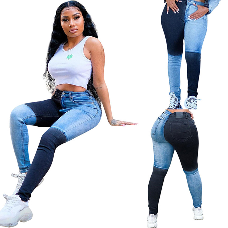 China 2017 Venta caliente Moda Mujer Bodycon lavado jeans de