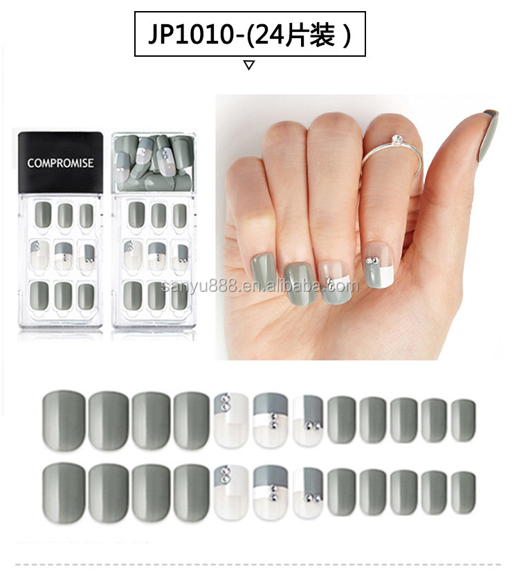 Press On False Nails Press On Nails Diamond Short Press on Nails