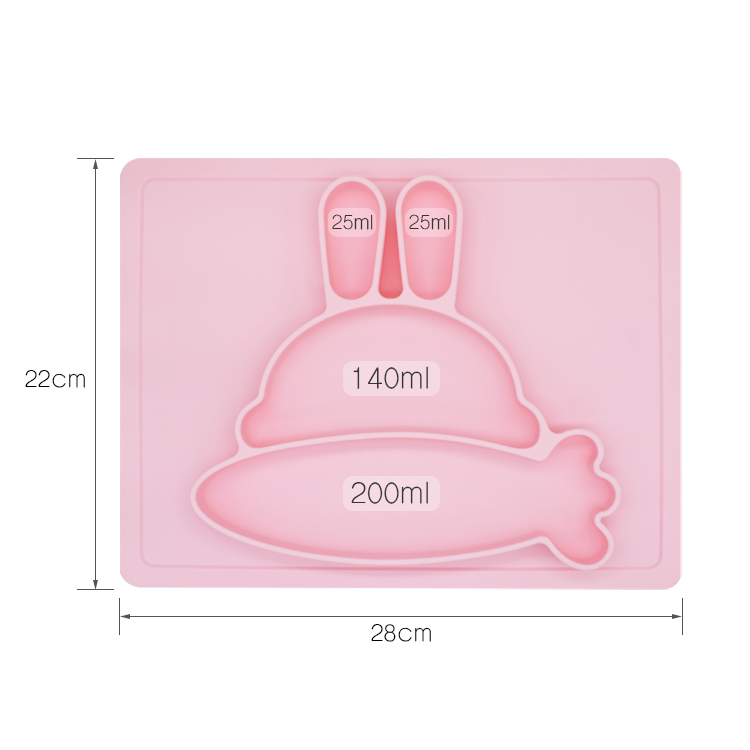Wholesale China Manufacturer High Quality Custom Food Grade Silicone Kids Placemat Plate