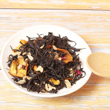 Organische Custom Losse Honing Cherry Blossom Organic Osmanthus Framboos Blad Mango Oranje Fruit Essentie <span class=keywords><strong>Gember</strong></span> Gearomatiseerde Thee Blend