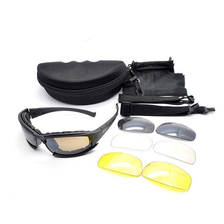 Military UV Protection Interchangeable Lenses Unisex Windproof Sports Goggles