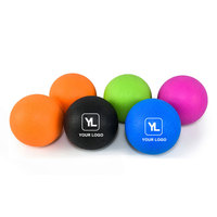 Custom Logo Gym Yoga Fitness TPE Single Lacrosse Massage Ball