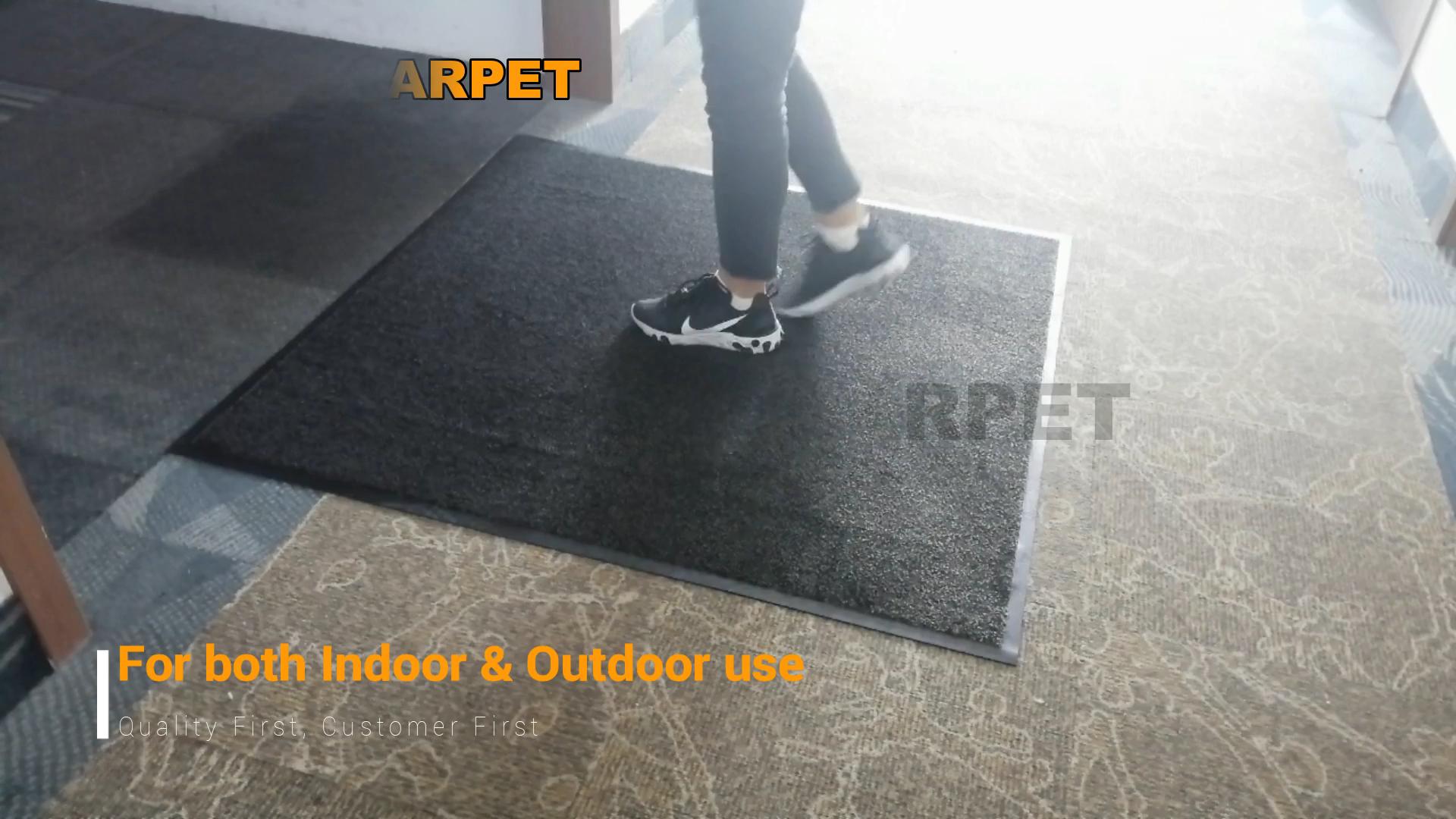 Zware Antislip Barrière Deur Floor Mat Grijs/Zwart 80X120 Cm