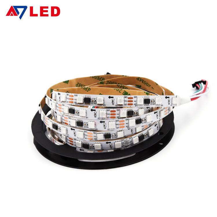 הטירה דה LED RGB 24 וולט WS2811 5050 12V LED מוסיקה רצועת RGB LED Luces LED רצועת אורות