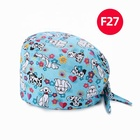 Uniform Uniform 2020 New Arrival In Stock Cotton Hospital Work Uniform Cute Print Tie Back Hair Surgical Scrub Hat