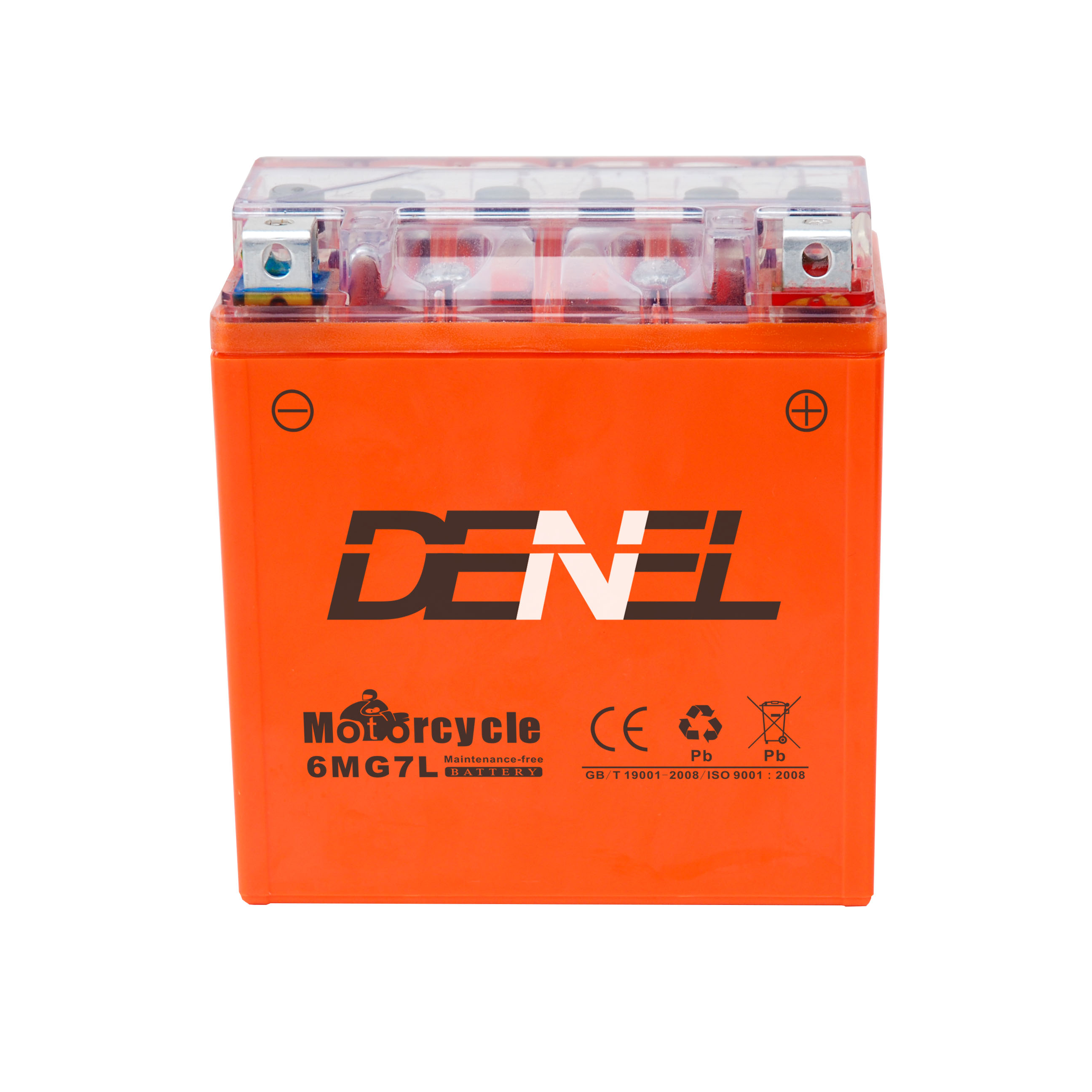 Rechargeable CE certification GEL motorcycle battery 12V6AH