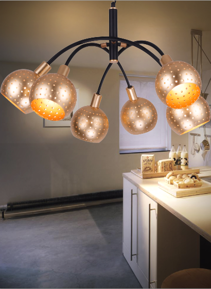 Wholesale vintage home hotel loft shopping mall decoration acrylic pendant light with white glass ball