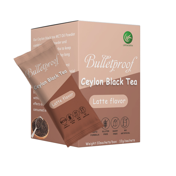 Lifeworth keto latte black tea extract powder private label - 4uTea   4uTea.com