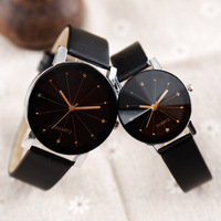 Couple Watches Fashion Lovers Watches Casual And Quartz Dial Clock Leather Wrist Watch