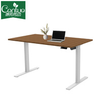 Three Segment Mobile Height Adjustable Computer Workstation,Electric Standing Desk For PC/Notebook