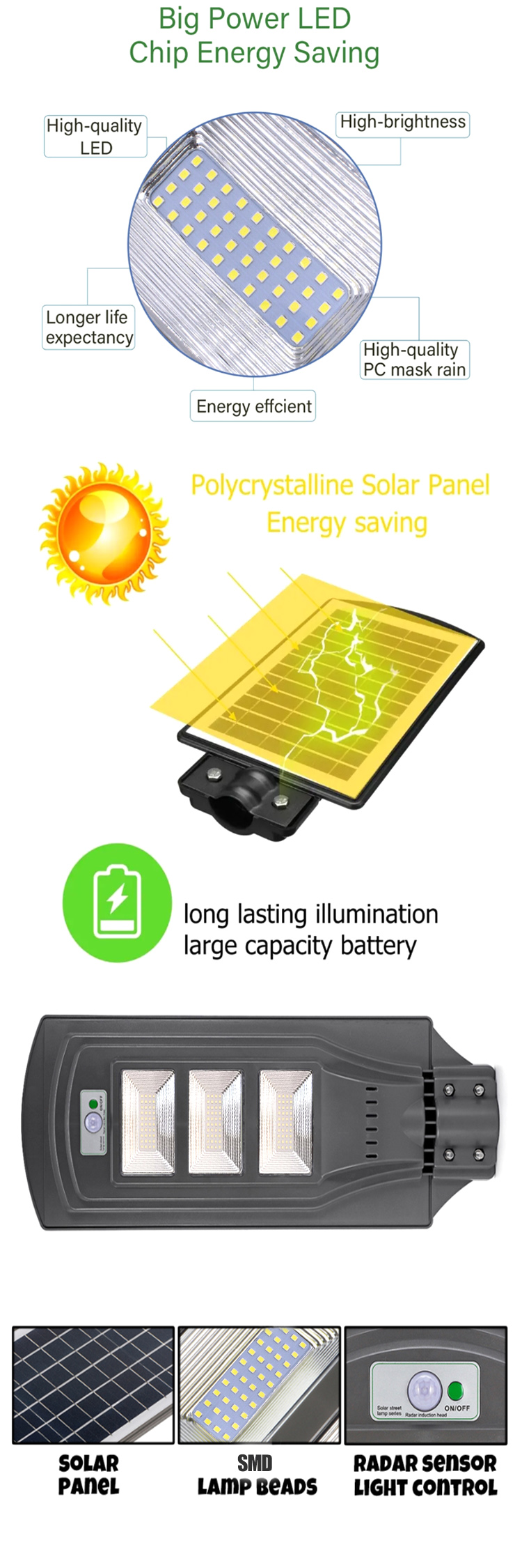 High Cost-Effective Solar Power 20 Watt Led Street Light