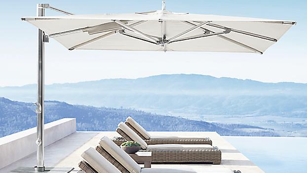 Good quality outdoor dia 3m white folding umbrella balcony umbrella