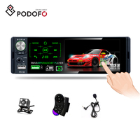 "Podofo Car Stereo 1 Din Autoradio Car Radio 4.1"" Capacitive Touch Screen Video RDS/FM/AM Bluetooth With Rear Camera + Microphone"