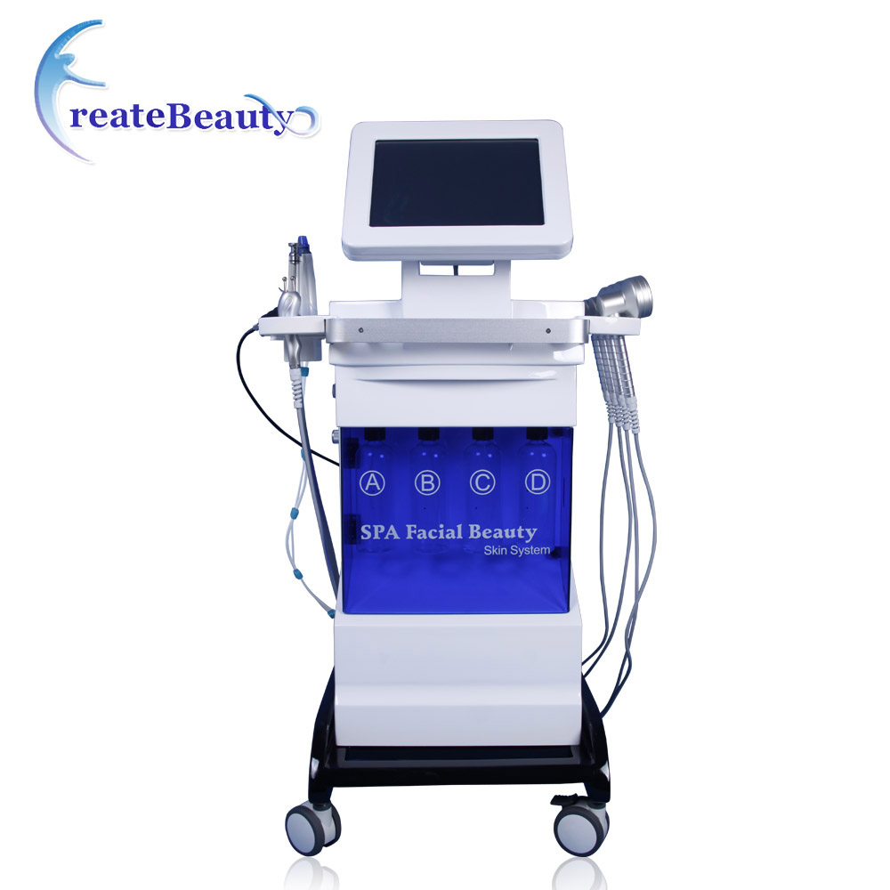 Spa use Oxygen jet skin care system/vertical jet peel water oxygen therapy facial machine hydra dermabrasion machine for skin фото