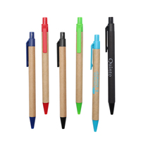 wholesale eco paper promotional ball pens with custom logo