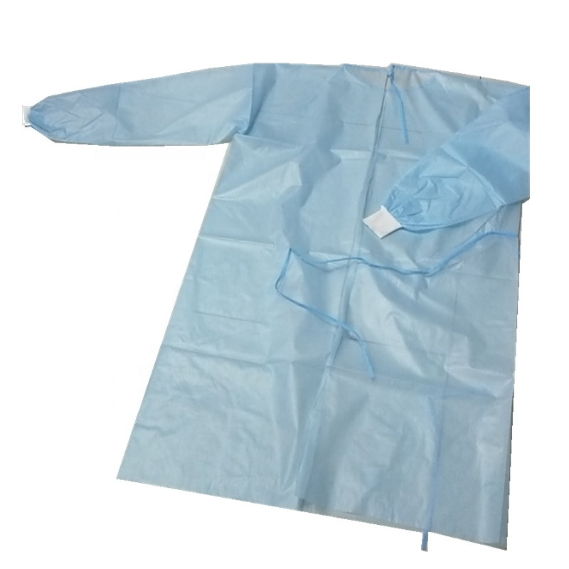 factory sale disposable waterproof PP+PE gown