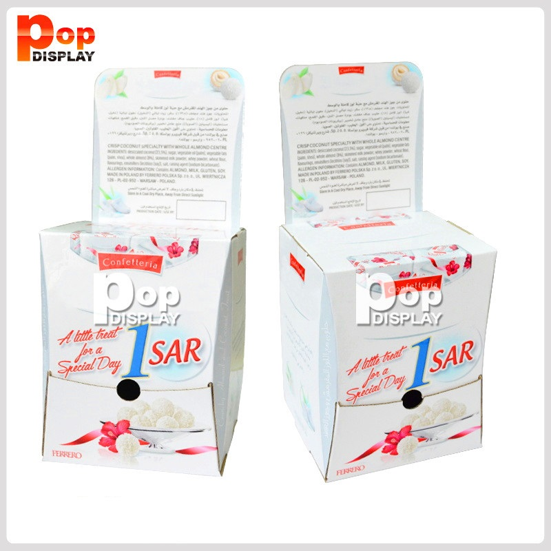 Factory price 2019 hotsale pdq cardboard display counter display