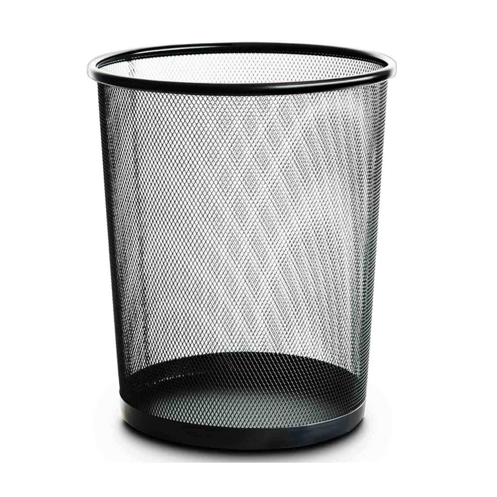 Office and Home Metal Mesh Round Wastebasket Waste Bin Trash Can