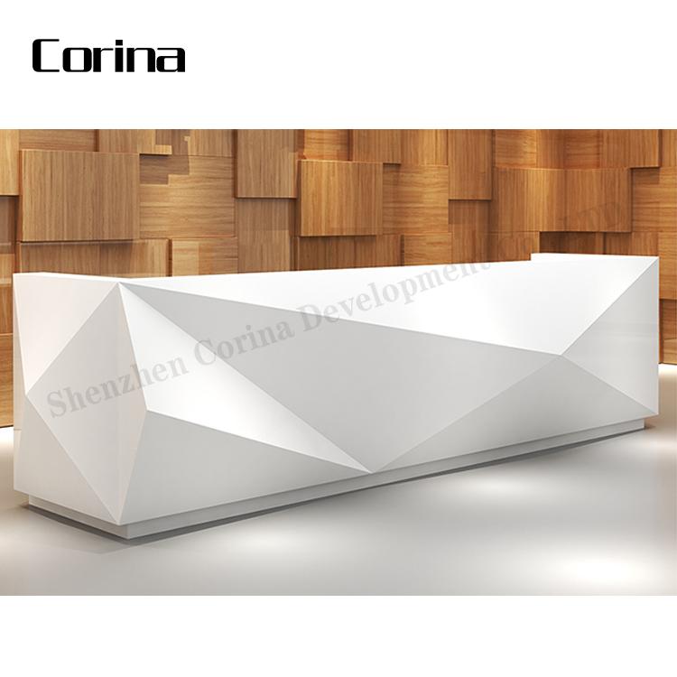 Luxus design custom Weiß Künstliche stein schönheit salon moderne rezeption
