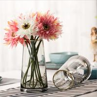 Modern Custom Wedding Centerpiece Colored Vase Crystal Glass,Nordic Hydroponic Clear Flower Glass Vase