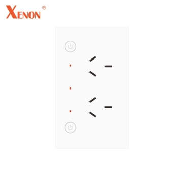 Xenon Tuya smart AU/CN Standard Wireless Smart WiFi Power Socket Switch For Amazon Alexa/Google Home 2AC Outlets