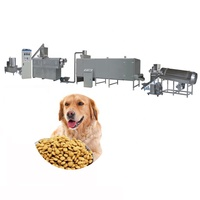 Automatic Pet Dog Food Production Machine Line Animal Feed Twin Screw Extruder