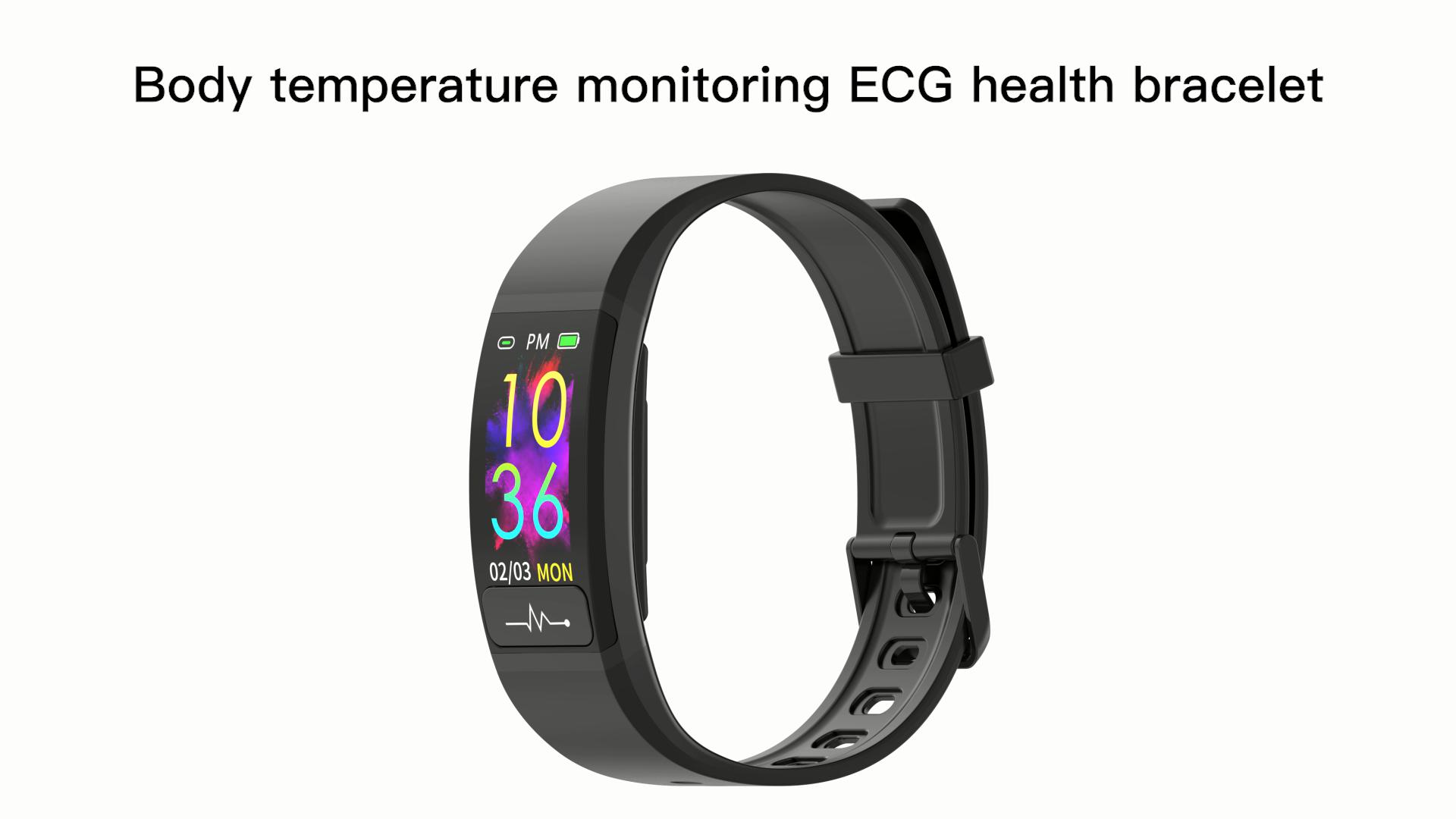 D'ECG PPG de Traqueur De Forme Physique De Moniteur de fréquence Cardiaque bracelet Intelligent moniteur de pression artérielle montre intelligente de sport votre santé steward