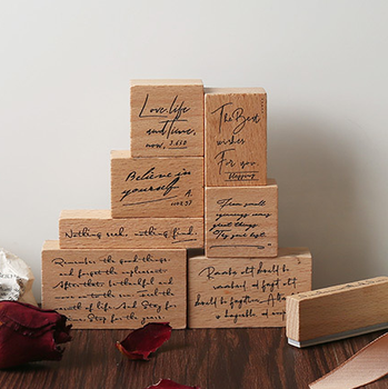 Vintage Letter Wood Rubber Stamps Sets