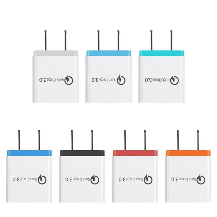 3 Ports Fast Charger QC 3.0 USB Charger for iphone X 7 8 ipad fast Charger QC3.0 EU / US Plug for samsung S8 mobile phone Charge