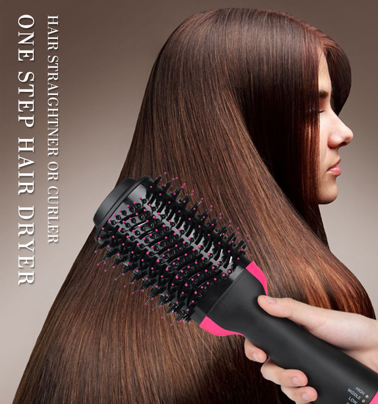 2019 Newest Strong Power Professional Fashionable  Hot Air Hair Brush One Step Hair Dryer and Volumizer