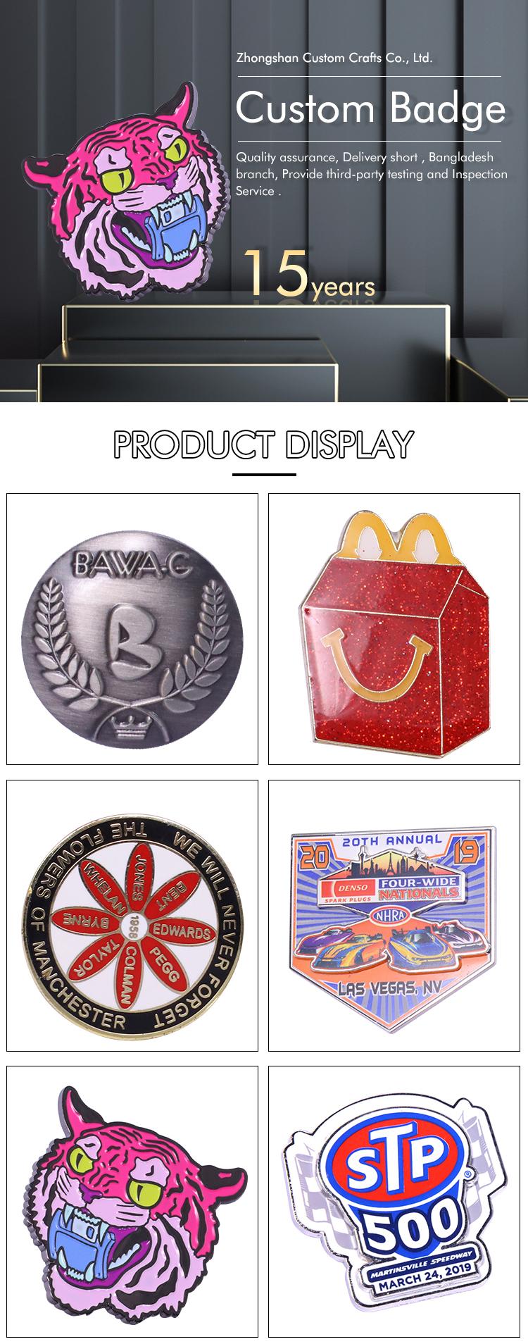 Safety Souvenir Name Lapel Pin Metal Pin Badge