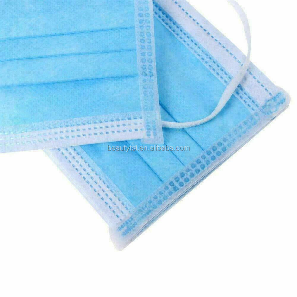 face mask 12 3Layers Dustproof Disposable Personal Protective Face Mask with Earloop Non Woven In Stock