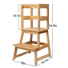 Wholesale Custom Montessori Learning Tower Height Kitchen Kids Adjustable Step Stool For Children
