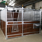 Horse Solid Horse Stalls Horse Stables With Lower Bamboo Wood And Sliding Door