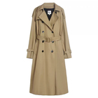 Custom Women Fashionable Trench Coat New Polyester Trench Coat